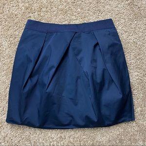 J.Crew Navy Ribbon Waist Lunette Skirt Sz 6